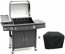 Cosmogrill ™ - CosmoGrill 4+1 Pro Gas BBQ