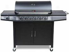 CosmoGrill 6+1 Deluxe Gas Burner Grill Barbecue