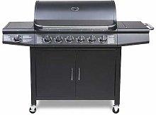 CosmoGrill barbecue 6+1 Pro Gas Grill BBQ (Black