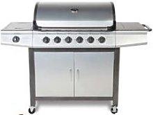 CosmoGrill barbecue 6+1 Pro Gas Grill BBQ (Silver)