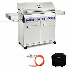 CosmoGrill Barbecue 6+2 Platinum Stainless Steel