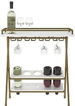 Cosmoliving Trevia Folding Wine Rack/Serving Table