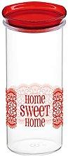 COSMOPLAST HomeSweetHome Jar, Lt 1.5, Plastic,