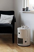 Costello® 2 TIER WHITE DRAWER BEDSIDE SIDE END