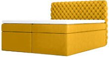 Costmary - Modern Bed with Linen Storage and