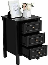 Costoffs Wooden Bedside Table Nightstand Cabinet