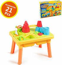 Costway - 2 IN 1 Beach Toy Set Children Kids Sand