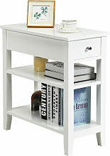 Costway - 3-Tier End Table Sofa Bedside Table