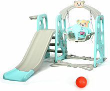 Costway - 4 in 1 Kids Toddler Climber Slide Play