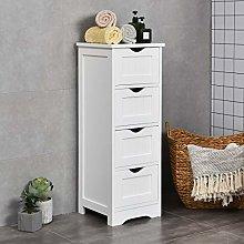 COSTWAY Bathroom Floor Cabinet, Free Standing