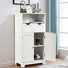 COSTWAY Bathroom Floor Cabinet, Wooden Free