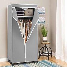 COSTWAY Fabric Wardrobe, Portable Single Clothes