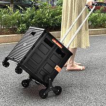 Costway - Folding Boot Cart Shopping Trolley