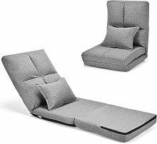 Costway - Folding Lazy Floor Sofa Chair Adjustable