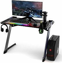 COSTWAY Gaming Computer Desk with USB Game Handle
