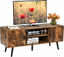 Costway - Industrial TV Stand Media Console Table
