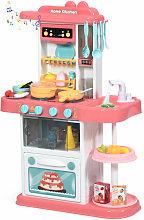 COSTWAY Kids Kitchen Set, Children Role Play Toy