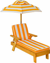 Costway - Kids Outdoor Chaise Lounge Chair