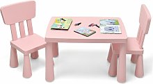 COSTWAY Kids Play Table and Chair Set Children