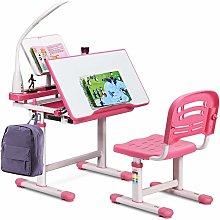 COSTWAY Kids Study Desk and Chair Set, Adjustable
