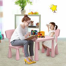 Costway - Kids Table & Chair Set Children Activity