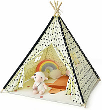 Costway - Kids Teepee Play Tent Natural Cotton