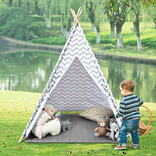 Costway - Large Canvas Children Indian Tent Teepee
