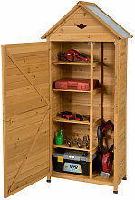 Costway - Outdoor Garden Shed Wooden Storage Tools