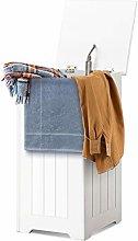 COSTWAY Wooden Laundry Cabinet Bin, Chest Storage