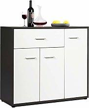 COSTWAY Wooden Storage Cabinet, Adjustable Shelves