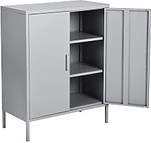 Cosy Large Metal Bedroom Cabinet 3 Layers Storage