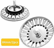 3 Pack Fits Most Plugs by 151 3XBathroom /& Kitchen Rubber Sink Plugs