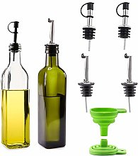 Cosyres Olive Oil and Vinegar Dispenser Set, 250ml