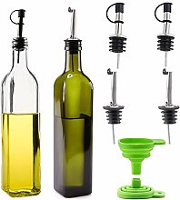 Cosyres Olive Oil and Vinegar Dispenser Set, 500ml
