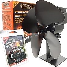 Cosystove 4 Blade Silent Heat Powered Wood Burning