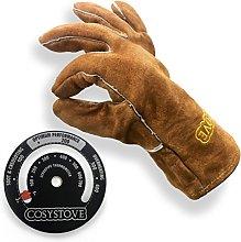 Cosystove Leather Gauntlets Woodburner Multifuel