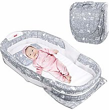 Cot Foldable Infant Sleeper,Baby Bed Cot Foldable