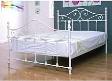 Cotswold Metal Small Double Bed In Ivory