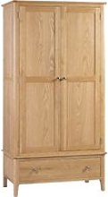 Cotswold Oak 2 Door Combination Wardrobe