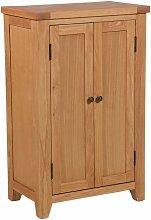 Cotswold Oak Tall Shoe Storage Cabinet in
