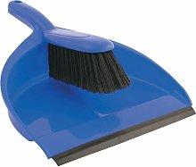 Cotswold Plastic Dustpan & Stiff Brush Set Blue