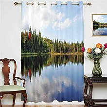 Cottage Decor Blackout Curtain Sunny Day During