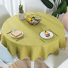 Cotton and Linen Home Restaurant Solid Color Round