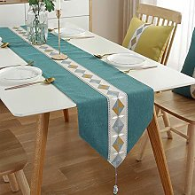 Cotton And Linen Simple Square Tassel Table