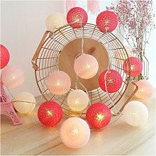 Cotton Ball Fairy Lights, 20 LED Battery Powered