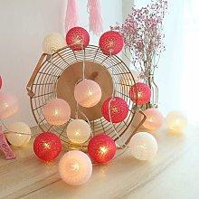 Cotton Ball Light Garland, Indoor Christmas Deco