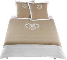 cotton bedding set in beige 220 x 240cm