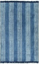 Cotton Blue Rug by Bloomsbury Market - Blue