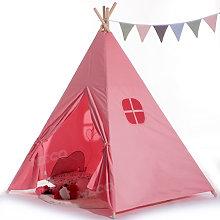 Cotton Canvas Kids Teepee Tent Childrens Wigwam