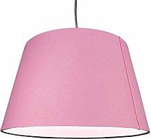 Cotton Drum Shade Pendant Light Lampshade – Pink